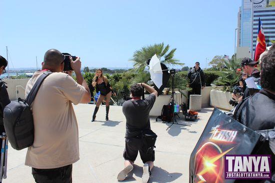 Tanya Tate San Diego Comic Con 2014 Black Canary Cosplay SDCC 011