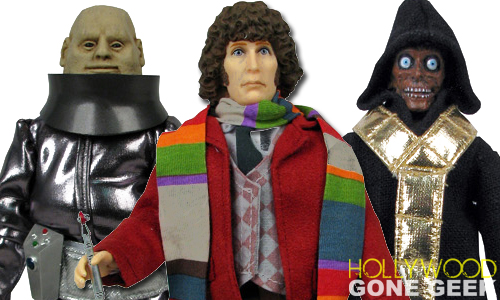 Bif Bang Pow, Doctor Who, Tom Baker, Action Figure, Mego, Fourth Doctor, journals, tin totes, water bottles, cookie jars, bobble-heads, toys, collectibles, BBC, Sontaran Styre, Cyberleader, The Master, Exclusive, Scaroth, Morbius, Leela, Sutekh, Dalek, 8-Inch Scale , Sold Out, Eleventh Doctor, TARDIS Collectible Set, K-9,  Figure, Discontinued, Mego Style, BBC, Sci-Fi, Checklist, @HwoodGoneGeek, Hollywood Gone Geek,