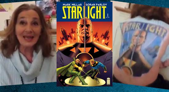 Starlight, Image Comics, Tanya Tate, @TanyaTate, Mark Millar, Duke McQueen, Video Review, Comic Book, Tattoo, 68 Year Old, Geek Girl, Youtube