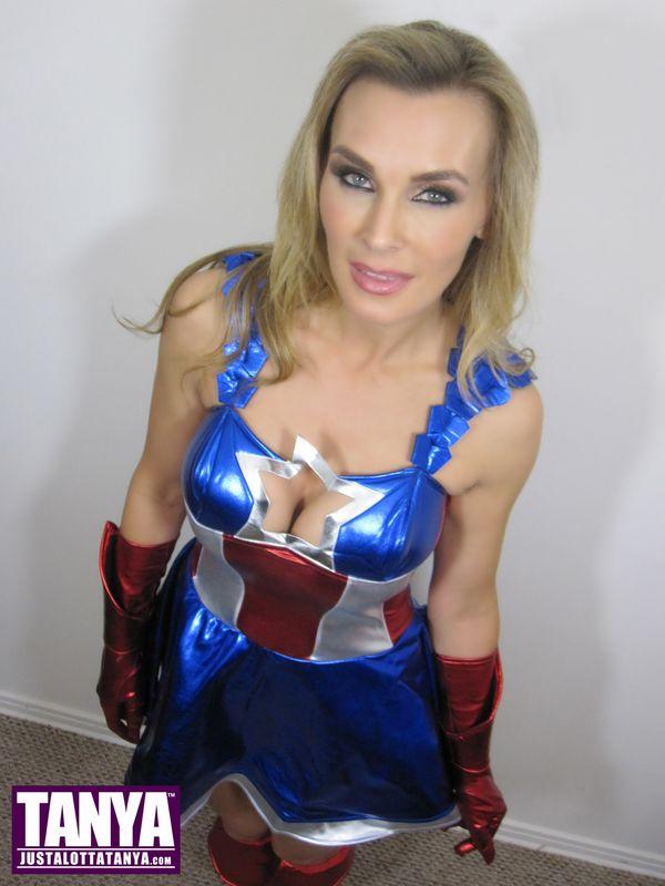 Justa Lotta Cosplay Tanya Tate Celebrates Captain America
