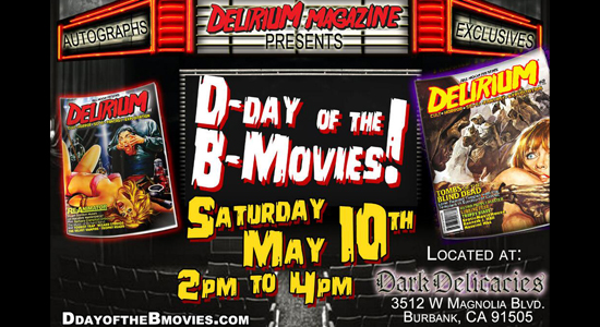 Tanya Tate Delirium Magazine D-Day of the B Movies Dark Delicacies Erotic Movie House 1
