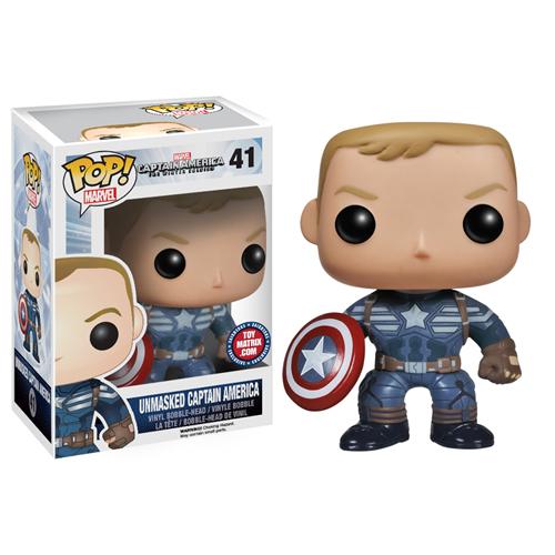 Funko Pop Marvel Toymatrix.com Exclusive Unmasked Captain America 2