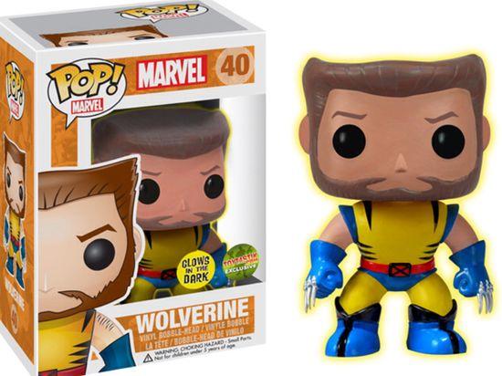 FUNKO POP Wolverine Unmasked ToyTastik Vinyl Figure Exclusive Glow In the Dark 1