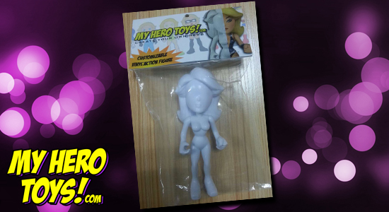 Tanya Tate, @TanyaTate, My Hero Toys, MHT, Indiegogo, Crowd-funding, Vinyl figures, vinyl, toys, action figures, customizable, Superhero, campaign, packaging