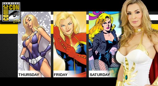 Tanya Tate, Cosplay, San Diego Comic Con, SDCC, 2014, Captain Marvel, Lady Titan, Black Canary, Marvel, DC Comics
