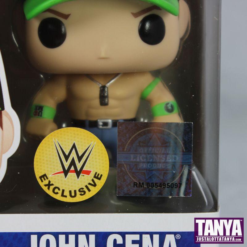 FUNKO POP Vinyl WWE John Cene Exclusive Green Hat Review 02