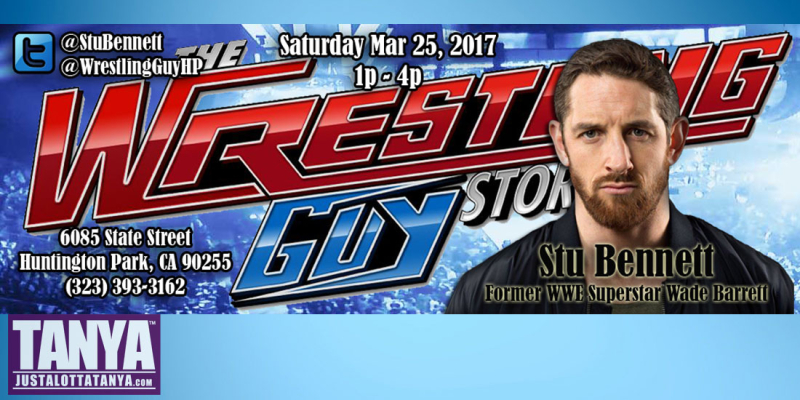 StuBennett-WWE-WadeBarret-appearance-signing-TheWrestlingGuyStore-HuntingtonPark-March25-2017-JLT