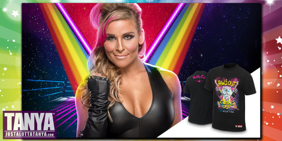 WWE-Natalya-PawsOutClawsOut-TShirt-New-Official-Smackdown-WomensChampion-JLT