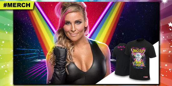 WWE-Natalya-PawsOutClawsOut-TShirt-New-Official-Smackdown-WomensChampion-HGG