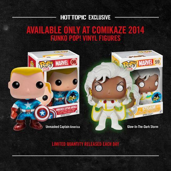 Hot Topic Comikaze Exclusive Funko POP Storm Captain America Vinyl Figure