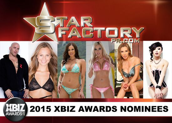 Derrick Pierce, Nina Elle, Venus Lux, Tanya Tate, Jillian Janson, Kendra Lust, Xbiz Awards, Xbiz, Adult Star, Pornstars, 2015, Nominees, Nominations, Awards