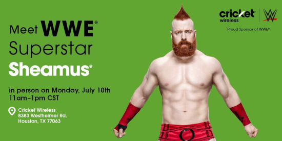 Justa lotta wwe meet sheamus at cricket wireless in houston july wwe sheamus signing cricketwireless houston 2017 01 m4hsunfo