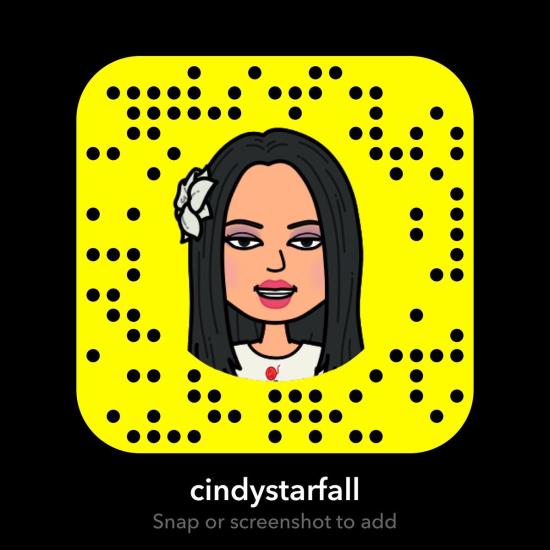 CindyStarfall-2018-Snapchat-Profile